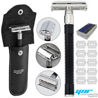 Safety Razor & 10 x Double Edge Blades - Classic Shaving Vintage  Butterfly Open