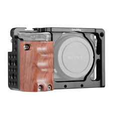 SmallRig A6300 Camera Cage for Sony A6000 A6300 with Wooden Handle Handgrip 2082