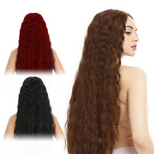 Lady Ombre Red Long Curly Wig Women Natural Body Wavy Blonde Hair Cosplay Wigs