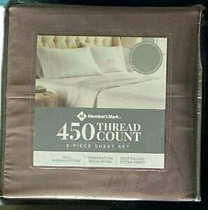 Members Mark 450 Thread Count 100% Cotton Sheet Set Choose Size Color