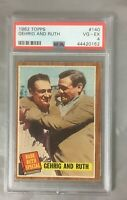 RUTH 1962 TOPPS GEHRIG 140 BABE AND LOU YANKEES SPECIAL NEW YORK BASEBALL PSA 4