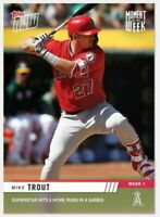 2019 TOPPS NOW MIKE TROUT MOMENT OF THE WEEK WINNER MOW-1