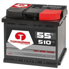 Autobatterie 55Ah +30% mehr Leistung Calcium 12V ersetzt 44Ah 45Ah 52Ah 54Ah