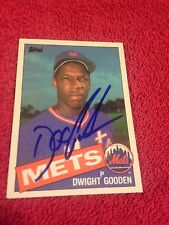 Dwight Doc Gooden Autograph Baseball Card New York Mets Superstar Pitcher