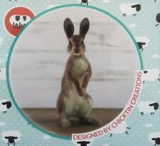 World of Wool Romeo Rabbit Needle Felting Kit detailed instructions / materials
