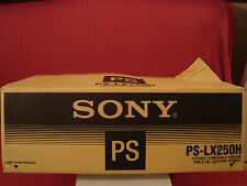 VINTAGE NEW UNUSED SONY TURN TABLE MODEL PS LX 250 H WITH MANUAL STILL IN BOX