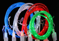 LED LIGHT-UP glow USB Data cell phone charger Cable charge FOR iphone 4 5s 6 7 8