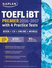 Kaplan TOEFL iBT Premier 2016-2017 with 4 Practice Tests: Book + CD +-ExLibrary