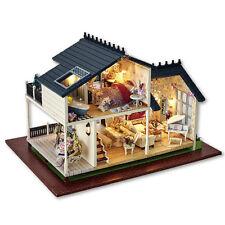 DIY Wooden Handcraft Miniature Dollhouse Wooden Assembled Model Kids Girls Gifts
