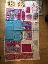 Fabric panel Barbie Fold N Go Bathroom Springs Industries vintage 2002 Vanity