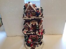 Vintage Gingerbread Tree Village with lights and music