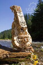 Ugears Hurdy-Gurdy Mechanical Wooden Model KIT - 3D puzzle, Self Assembling