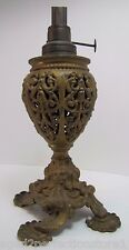 Antique Victorian Miller Oil Lamp scary faces on base wonderful small unique