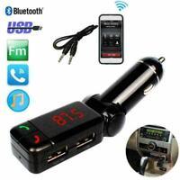 Lcd car kit bluetooth fm sender mp3 player usb ladegerät freisprecheinricht I8X8