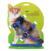 Pet Cat Kitten Adjustable Outdoor Control Harness Lead Leash Collar Belts US