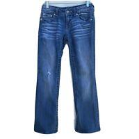 Miss Me Distressed Boot Cut Jeans Fleur De Lis Embellished - Womens Size 28