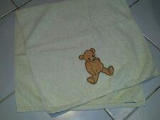 Childrens Limón/Amarillo Toalla de mano con oso de peluche de 18 X 37 in (approx. 93.98 cm)
