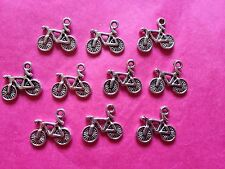 Plata Tibetana bike/cycle/bicycle encantos - 10 por paquete