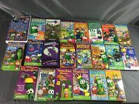 Huge Lot, Veggie Tales VHS Lot of 22 Tapes