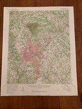 Greenville South Carolina 1957 Original Vintage Usgs Topography Topo Map