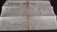 Diario Nacionalista ACCIÓN Francesa 19 Julio 1934 N º 200 ABE