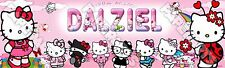 Hello Kitty Lady Bug 8.5x30 Customized Perosnalized Poster Banner -Birthday Gift