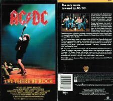 AC DC Let There Be Rock VHS Video Tape New Malcolm Young Cliff Williams