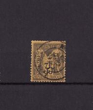 timbre France  Sage   35c   violet noir sur jaune    num: 93  oblitéré