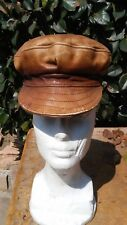 VINTAGE MOTORCYCLE PARTS LEATHER HAT ORIGINAL ROCK A BILLY HOT ROD PARTS