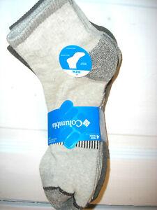 Columbia Mens Multisport Socks Quarter 4 Pairs Socks Half Cushion Shoe Size 6-12