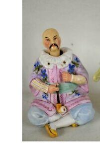 Antique German Porcelain Asian Wiseman Nodder Bobblehead circa 1920's VERY RARE!