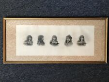 Artwork From Pencil With Artist Signature In Frame With Glass
