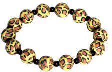 Leopard Stretch Bracelet, Animal Design Print Bracelet Funky Fashion Jewellery