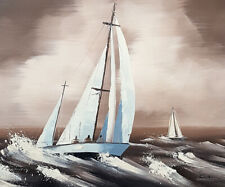 Art peinture tableau paysage marin bateau mer, moderne, peinture toile +châssis