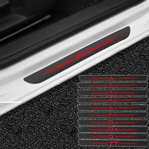4x Carbon Door Sill Scuff Plate Guard Sticker For Audi A1 A3 A4 A5 A6 A7 Q3 Q5 7