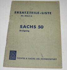 Ersatzteilliste Sachs 50 Dreigang Vergaser Lüfter Gehäuse Kupplung Nr. 316.6/6