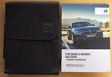 GENUINE BMW 3 SERIES 2015-2017 SALOON F30 HANDBOOK OWNERS MANUAL iDRIVE PACK