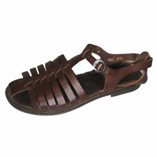 BASS Made in Italy Size 6.5 Huarache Style Leather Sandals Brown