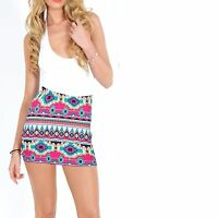 New Ladies Womens Jersey Maxi mini skirt Gypsy Bodycon Summer Dress Size 8-26