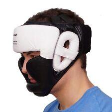 Kopfschutz aus Leder Farbe: schwarz / weiss in 3 Größen