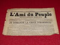 [PRESSE XIXe] MAXIME LISBONNE  L'AMI DU PEUPLE # 11 - 2e S. DIM 8 MARS 1885 Rare