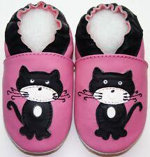 Mini Shoezoo cat black pink 12-18 m soft sole walking toddlers girl shoes