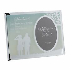 Husband Sentiment - Whole heart and life photo frame gift FG516H