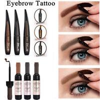 Women 3 Colors Peel-off Eye Brow Tattoo Tint Dye Gel Eyebrow Cream Waterproof