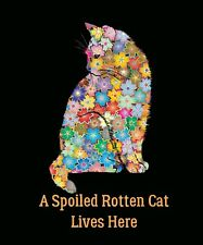 New Colorful Double Sided Garden Flag Yard Decor A Spoiled Rotten Cat Lives Here