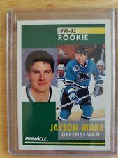1991-92 Pinnacle ROOKIE Jayson More San Jose Sharks Card #342