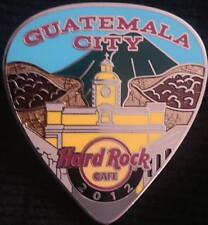 Hard Rock Cafe GUATEMALA CITY 2012 POSTCARD Series Guitar Pick PIN Rare! #79273