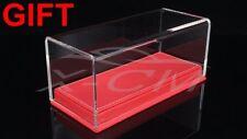 Car Model Transparent Display Show Case Leather Like Base 1:43 (Red)