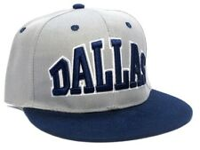 Dallas Cowboys Gray Two Tone Flat Brim Visor Hat Cap Text Logo Snapback