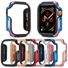 For Apple Watch Series 5 4 Cover 44mm 40mm Bumper Protector Metal Aluminum Case